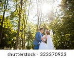 Wedding Couple At Forest