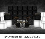 abstract scene with drums ...   Shutterstock . vector #323384153