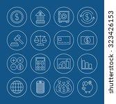 finance icons set | Shutterstock .eps vector #323426153