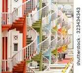 Colorful Spiral Staircases At...