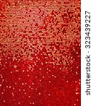 red sequins textile background | Shutterstock . vector #323439227