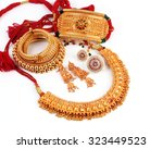 all mix indian traditional gold ... | Shutterstock . vector #323449523