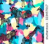 hand drawn seamless pattern... | Shutterstock .eps vector #323457017