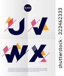 typographic alphabet in a set.... | Shutterstock .eps vector #323462333