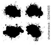 black and white ink splat icon... | Shutterstock . vector #32346505