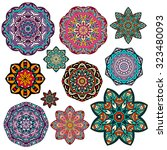 mandalas collection. round... | Shutterstock .eps vector #323480093