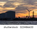 nice silhouette from some oil... | Shutterstock . vector #323486633