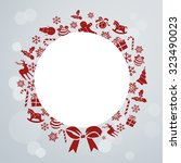 christmas background. christmas ... | Shutterstock .eps vector #323490023