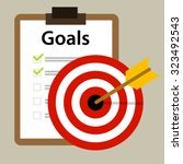 Target Goals Vector Icon...