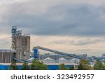 factory when sunset time   | Shutterstock . vector #323492957