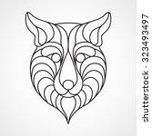 fox logo vector | Shutterstock .eps vector #323493497