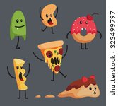 set of monstrous foods. | Shutterstock .eps vector #323499797
