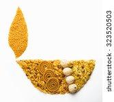 traditional indian diwali snack ... | Shutterstock . vector #323520503