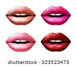 female lips colored in... | Shutterstock .eps vector #323523473