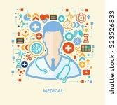 doctor concept design on old... | Shutterstock .eps vector #323526833
