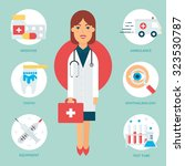 profession  doctor. vector... | Shutterstock .eps vector #323530787
