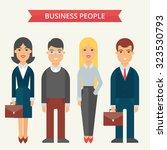 business people vector... | Shutterstock .eps vector #323530793