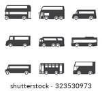 bus icon set | Shutterstock .eps vector #323530973