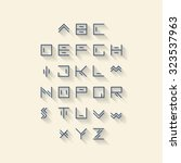 vector linear font   simple... | Shutterstock .eps vector #323537963