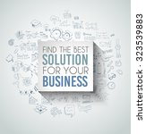 best solution for your business ... | Shutterstock .eps vector #323539883