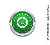 24 hours service green vector... | Shutterstock .eps vector #323548427