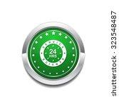 24 hours service green vector... | Shutterstock .eps vector #323548487