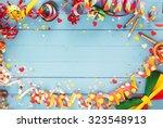 festive party border or frame... | Shutterstock . vector #323548913