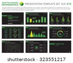set of editable infographic... | Shutterstock .eps vector #323551217