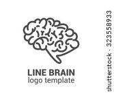 brain logo template. brain icon.... | Shutterstock .eps vector #323558933