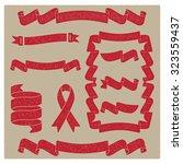 vintage grunge textured ribbon... | Shutterstock .eps vector #323559437