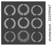 vintage laurel sets | Shutterstock .eps vector #323559467