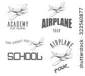 light airplane related emblems  ... | Shutterstock .eps vector #323560877