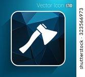 fire ax icon vector button logo ... | Shutterstock .eps vector #323566973