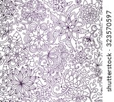 seamless vector floral pattern. ... | Shutterstock .eps vector #323570597