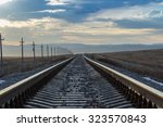 Railway Rails Of Stretching...