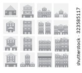 building set vector illustrator | Shutterstock .eps vector #323585117