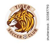 Tiger Soccer Club Logo Badge