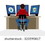vector illustration of a... | Shutterstock .eps vector #323590817