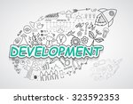 development text  with creative ... | Shutterstock .eps vector #323592353