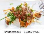 served fresh argentine beef... | Shutterstock . vector #323594933