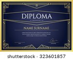 diploma or certificate premium... | Shutterstock .eps vector #323601857