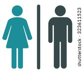 wc vector icon. style is... | Shutterstock .eps vector #323611523