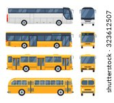 cool modern flat design public... | Shutterstock .eps vector #323612507