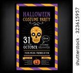 halloween party invitation....   Shutterstock .eps vector #323615957