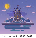 vector flat style night... | Shutterstock .eps vector #323618447