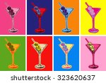 set of colored martini... | Shutterstock .eps vector #323620637