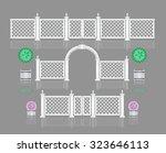 Set Of White Wooden Gates