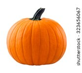 pumpkin isolated on white... | Shutterstock . vector #323656067