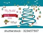 cute eskimos characters... | Shutterstock .eps vector #323657507
