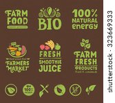 organic writings  labels and... | Shutterstock .eps vector #323669333